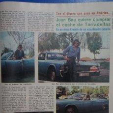 Coleccionismo de Revista Diez Minutos: RECORTE REPORTAJE DE CLIPPING JUAN BAU REVISTA DIEZ MINUTOS Nº 1375 PAG 97. Lote 143266522