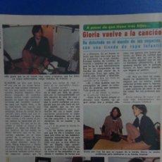 Coleccionismo de Revista Diez Minutos: RECORTE REPORTAJE DE CLIPPING DE GLORIA VUELTA CANCION REVISTA DIEZ MINUTOS Nº 1375 PAG 104. Lote 143266774