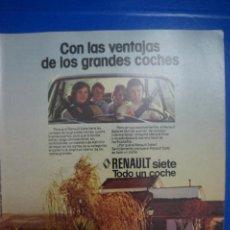 Coleccionismo de Revista Diez Minutos: RECORTE REPORTAJE DE CLIPPING DE RENAULT SIETE REVISTA DIEZ MINUTOS Nº 1379 PAG 3. Lote 143275950