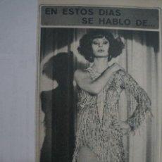 Coleccionismo de Revista Diez Minutos: RECORTE REPORTAJE DE CLIPPING DE NADIUSKA REVISTA DIEZ MINUTOS Nº 1379 PAG 19. Lote 143276086