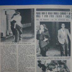 Coleccionismo de Revista Diez Minutos: RECORTE REPORTAJE DE CLIPPING DE URSULA ANDRESS RYAN O'NEAL REVISTA DIEZ MINUTOS Nº 1379 PAG 23. Lote 143276158
