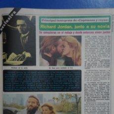 Coleccionismo de Revista Diez Minutos: RECORTE REPORTAJE DE CLIPPING DE RICHARD JORDAN BLAIR BROWN REVISTA DIEZ MINUTOS Nº 1379 PAG 75-77. Lote 143277138