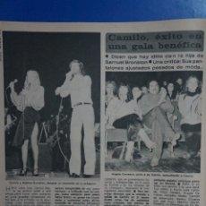Coleccionismo de Revista Diez Minutos: RECORTE REPORTAJE DE CLIPPING DE CAMILO SESTO ANDREA BRONSTON REVISTA DIEZ MINUTOS Nº 1379 PAG 84. Lote 143277234