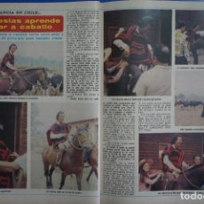 Coleccionismo de Revista Diez Minutos: RECORTE REPORTAJE DE CLIPPING DE JULIO IGLESIAS CABALLO REVISTA DIEZ MINUTOS Nº 1542 PAG 100-101. Lote 144029534