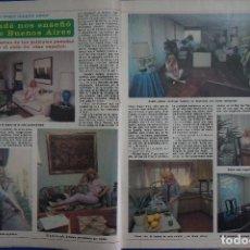 Coleccionismo de Revista Diez Minutos: RECORTE REPORTAJE CLIPPING DE ANALIA GADE REVISTA DIEZ MINUTOS Nº 1538 PAG 28-29. Lote 144034570