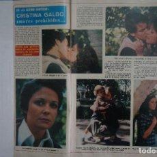 Coleccionismo de Revista Diez Minutos: RECORTE REPORTAJE CLIPPING DE CRISTINA GALBO REVISTA DIEZ MINUTOS Nº 1366 PAG 6-7. Lote 144041366
