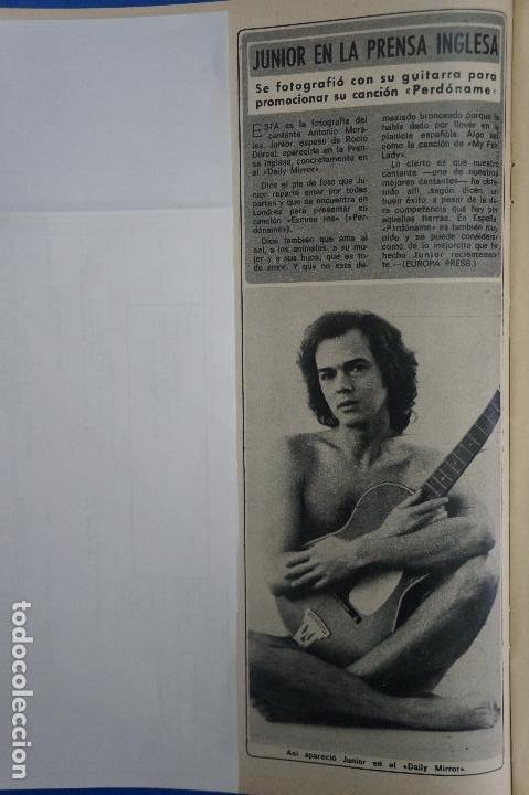 RECORTE REPORTAJE CLIPPING DE JUNIOR PERDONAME REVISTA DIEZ MINUTOS Nº 1246 PÁG 32 (Coleccionismo - Revistas y Periódicos Modernos (a partir de 1.940) - Revista Diez Minutos)