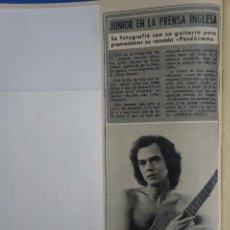 Coleccionismo de Revista Diez Minutos: RECORTE REPORTAJE CLIPPING DE JUNIOR PERDONAME REVISTA DIEZ MINUTOS Nº 1246 PÁG 32. Lote 194377380