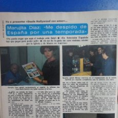 Coleccionismo de Revista Diez Minutos: RECORTE REPORTAJE CLIPPING DE MARUJITA DIAZ REVISTA DIEZ MINUTOS Nº 1589 PÁG 72. Lote 145652110