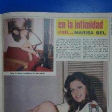 Coleccionismo de Revista Diez Minutos: RECORTE REPORTAJE CLIPPING DE MARISA BELL REVISTA DIEZ MINUTOS Nº 1221 PÁG 101-104. Lote 145656710