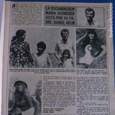 Coleccionismo de Revista Diez Minutos: RECORTE REPORTAJE CLIPPING DE MARIA SCHNEIDER DANIEL GELIN REVISTA DIEZ MINUTOS Nº 1129 PÁG 17-18. Lote 146156806