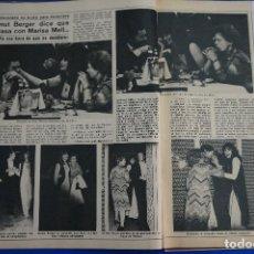 Coleccionismo de Revista Diez Minutos: RECORTE REPORTAJE CLIPPING HELMUT BERGER MARISA MELL Y HARRY O DIEZ MINUTOS Nº 1365 PÁG 24-27. Lote 147930998