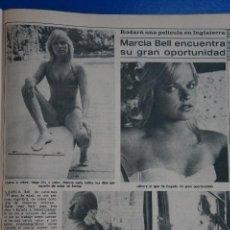 Coleccionismo de Revista Diez Minutos: RECORTE REPORTAJE CLIPPING DE MARCIA BELL REVISTA DIEZ MINUTOS Nº 1365 PÁG 65. Lote 147931386