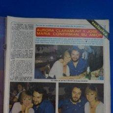 Coleccionismo de Revista Diez Minutos: RECORTE REPORTAJE CLIPPING DE AURORA CLARAMUNT JOSE MARIA REVISTA DIEZ MINUTOS Nº 1557 PÁG 3-4. Lote 147931906
