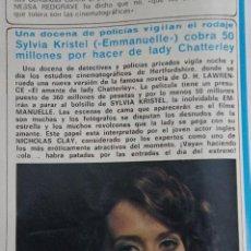 Coleccionismo de Revista Diez Minutos: RECORTE REPORTAJE CLIPPING DE SYLVIA KRISTEL EMMANUELLE REVISTA DIEZ MINUTOS Nº 1557 PÁG 60. Lote 147932786