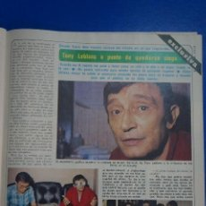 Coleccionismo de Revista Diez Minutos: RECORTE REPORTAJE CLIPPING DE TONY LEBLANC REVISTA DIEZ MINUTOS Nº 1557 PÁG 75-76. Lote 147933082