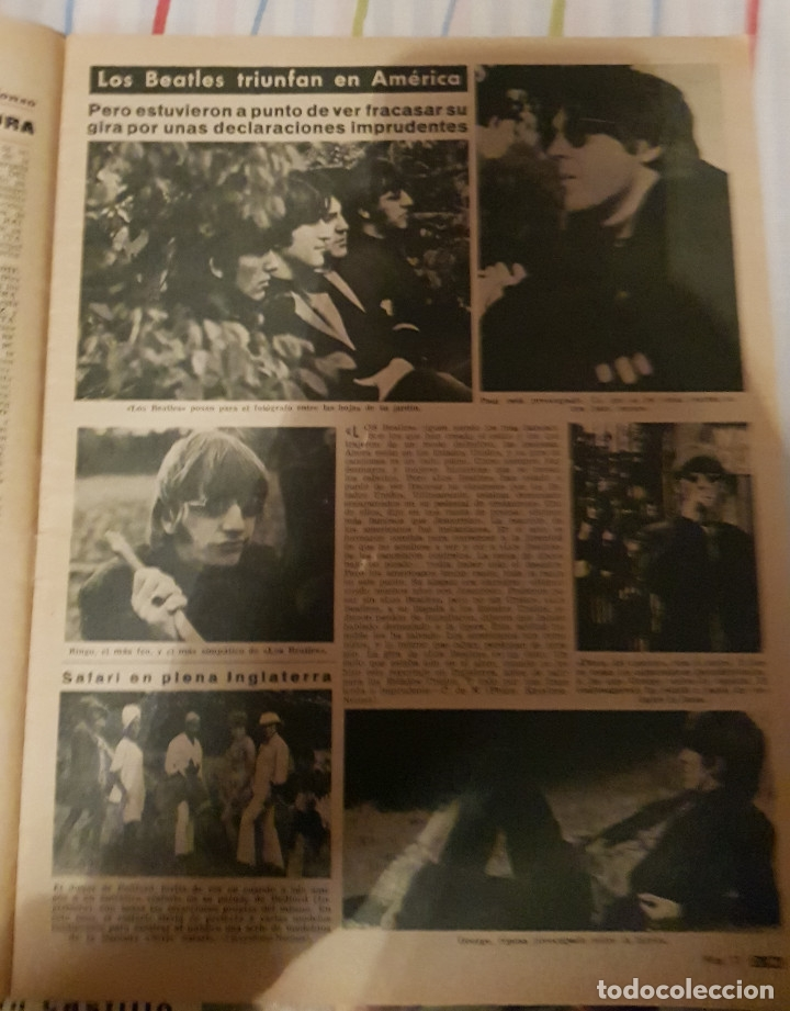 Coleccionismo de Revista Diez Minutos: DIEZ MINUTOS Nº 785 1966 SOFIA LOREN, MARISOL, BEATLES EN AMERICA. PORTADA PICADA - Foto 2 - 72232747