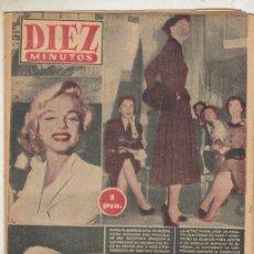 Coleccionismo de Revista Diez Minutos: REVISTA DIEZ MINUTOS Nº 163 AÑO 1954. MARILYN MONROE. VIVIEN LEIGH. EL BORREGO DE CINCO PATAS.. Lote 148331838