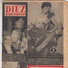 Coleccionismo de Revista Diez Minutos: REVISTA DIEZ MINUTO9 Nº 297 AÑO 1957. MARQUES DE LA FAYETTE. ELISABETH MANET. TUNEL BAJO EL CANAL.. Lote 148438842
