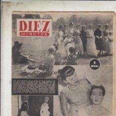 Coleccionismo de Revista Diez Minutos: REVISTA DIEZ MINUTOS Nº 92 AÑO 1953. MODA. LEPINE.. Lote 148832710