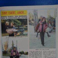 Coleccionismo de Revista Diez Minutos: RECORTE REPORTAJE CLIPPING DE TONY ISBERT MARISOL RAMOS REVISTA DIEZ MINUTOS Nº 1217 PÁG 49,51. Lote 149874078