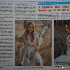 Coleccionismo de Revista Diez Minutos: RECORTE REPORTAJE CLIPPING DE BLANCA ESTRADA REVISTA DIEZ MINUTOS Nº 1308 PÁG 10. Lote 149874662