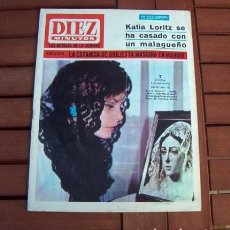 Coleccionismo de Revista Diez Minutos: DIEZ MINUTOS 1966 / GIULIETTA MASSINA, KITTY SWAN, COCCINELLE, PALOMARES, ROCIO DURCAL, OSCAR 1966. Lote 151160550