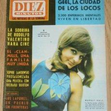 Coleccionismo de Revista Diez Minutos: DIEZ MINUTOS #789 1966 CAPUCINE AUDREY HERPBURN SYLVIE VARTAN BEATLES STONES BB CARLOS LARRAÑAGA. Lote 151524490