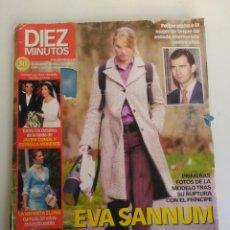 Coleccionismo de Revista Diez Minutos: REVISTA DIEZ MINUTOS, 28 DE DICIEMBRE DE 2001, EVA SANNUN Y FELIPE DE BORBÓN. Lote 151623502