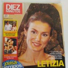 Coleccionismo de Revista Diez Minutos: REVISTA DIEZ MINUTOS, LETIZIA DESLUMBRA EN ROMA. Lote 151623882