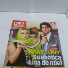 Coleccionismo de Revista Diez Minutos: REVISTA DIEZ MINUTOS DEL 8 DE NOVIEMBRE DEL 2002 NÚMERO 2672 SARA MONTIEL Y TONY. Lote 151875289