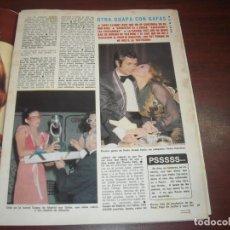 Coleccionismo de Revista Diez Minutos: 2 PAG. RECORTE GUAPA MADRID CON GAFAS Y ROCIO JURADO PEDRO CARRASCO -1975 REVISTA DIEZ MINUTOS. Lote 153656922