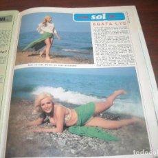 Coleccionismo de Revista Diez Minutos: 4 PAG. RECORTE CLIPPING- AGATA LYS -1975 REVISTA DIEZ MINUTOS. Lote 153657686