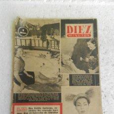 Coleccionismo de Revista Diez Minutos: DIEZ MINUTOS REVISTA Nº 21 ENERO 1952. TORRE DE PISA, GIBRALTAR..... Lote 154206722