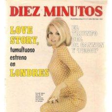 Coleccionismo de Revista Diez Minutos: DIEZ MINUTOS. Nº 1022. EN PORTADA. CARROLL BAKER. 27 MARZO 1971.(P/B71). Lote 155924586