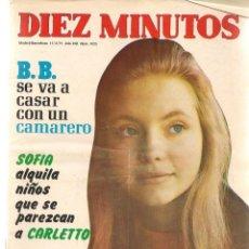 Coleccionismo de Revista Diez Minutos: DIEZ MINUTOS. Nº 1025. B.B.; VICTOR MANUEL, ZSA ZSA GABOR; SOFIA LOREN. 17/4/1971.(P/B71). Lote 155925218
