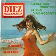 Coleccionismo de Revista Diez Minutos: DIEZ MINUTOS. Nº 819. ALAIN DELON / PILI Y MILI. 6 MAYO 1967. (P/B71). Lote 155980422