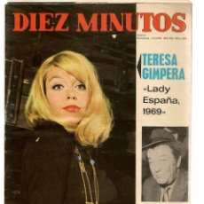 Coleccionismo de Revista Diez Minutos: DIEZ MINUTOS. Nº 929. TERESA GIMPERA. 14 JUNIO 1969. (P/B71). Lote 155993918