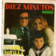 Coleccionismo de Revista Diez Minutos: DIEZ MINUTOS. Nº 1082. CARMEN SEVILLA. POSTERS: DE RAYMOND/ EWA AULLIN. 1972. (P/B71). Lote 155996566