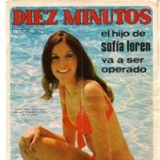Coleccionismo de Revista Diez Minutos: DIEZ MINUTOS. Nº 1085. SOFÍA LOREN. POSTER: DUSTIN HOFFMAN. 10 JUNIO 1972. (P/B71). Lote 155996890
