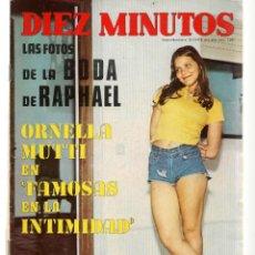 Coleccionismo de Revista Diez Minutos: DIEZ MINUTOS. Nº 1091. LAS FOTO DE LA BODA DE RAPHAEL/ORNELLA MUTTI. 22 JULIO 1972. (P/B71). Lote 155997462