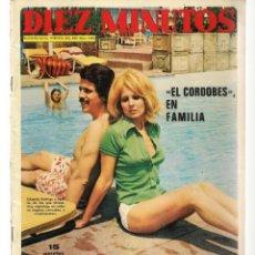 Coleccionismo de Revista Diez Minutos: DIEZ MINUTOS. Nº 1095. PAUL MC CARTNEY; MARISOL. POSTERS: JUAN ERASMO/ MARTA RODRIGO.19/8/72(P/B71). Lote 155997962