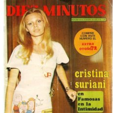 Coleccionismo de Revista Diez Minutos: DIEZ MINUTOS. Nº 1104. POSTER: JOSEPH CAMPANELLA. 21 OCTUBRE 1972.(P/B71). Lote 155998494