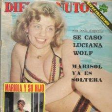 Coleccionismo de Revista Diez Minutos: DIEZ MINUTOS. Nº 1250. PIPPI CAZASLARGAS; MARISOL; POSTER: CLINT EASTWOOD. 9 AGOSTO 1975. (P/B75). Lote 156476530