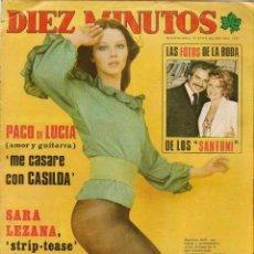 Coleccionismo de Revista Diez Minutos: DIEZ MINUTOS. Nº 1229. RAPHAEL. POSTERS: AGUSTINA BELLI/BURT REYNOLDS. 15 MARZO 1975. (P/B78). Lote 156547770