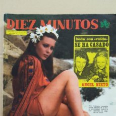 Coleccionismo de Revista Diez Minutos: REVISTA DIEZ MINUTOS. NUM. 1243. 21 JUNIO 1975. ANGEL NIETO. PILAR VELAZQUEZ. BRUNO LOMAS. Lote 156870086