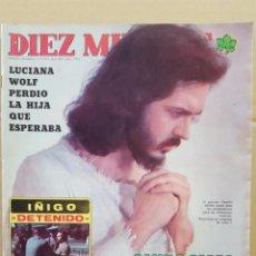 Coleccionismo de Revista Diez Minutos: REVISTA DIEZ MINUTOS. NUM. 1262. 1 NOVIEMBRE 1975.- CAMILO SESTO.- LUCIANA WOLF.- BLANCA ESTRADA. Lote 156871042