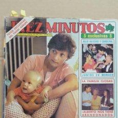 Coleccionismo de Revista Diez Minutos: REVISTA DIEZ MINUTOS.- NUM. 1565. 22 AGOSTO 1981. LA FAMILIA CLOSAS. FOTOS DEL HIJO DE PILAR MIRO. Lote 156876682