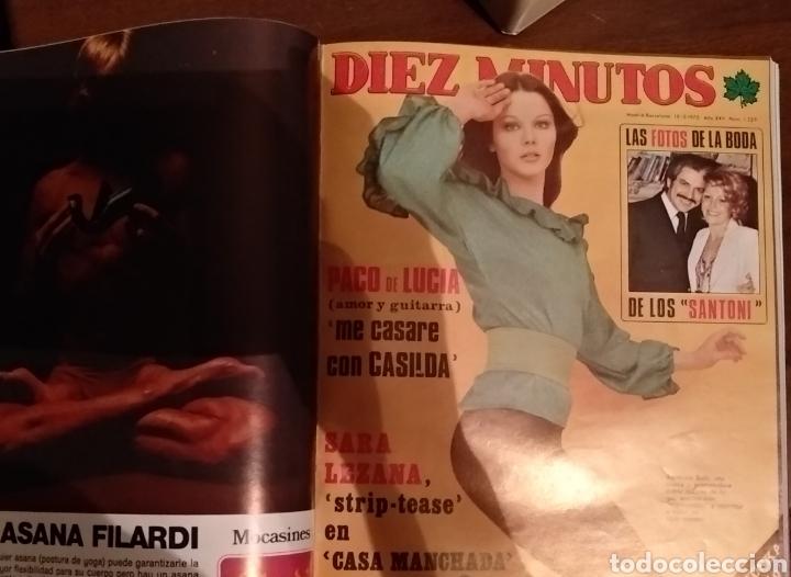 Coleccionismo de Revista Diez Minutos: COMPILACIÓN ENCUADERNADA DE 10 EJEMPLARES DE LA REVISTA 10 MINUTOS - Foto 4 - 157506109