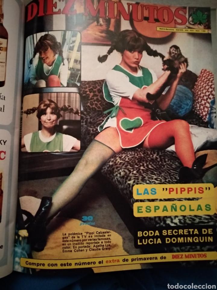 Coleccionismo de Revista Diez Minutos: COMPILACIÓN ENCUADERNADA DE 10 EJEMPLARES DE LA REVISTA 10 MINUTOS - Foto 8 - 157506109